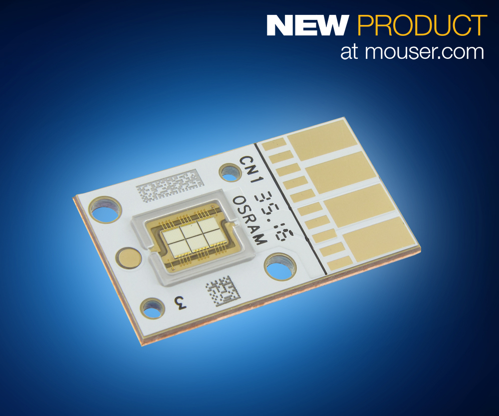 OSRAM OSTAR Projection Power LEDs Now Available from Mouser Electronics